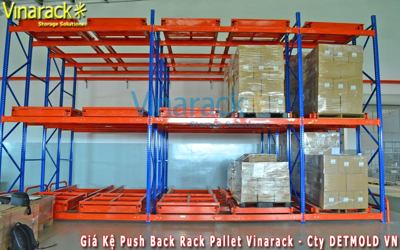 push back pallet racking system